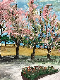 Cherry blossom painting, Expressions Through Art