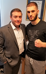 Russell Cavallo, MD, with mixed martial art fighter, Kastriot Xhema