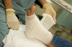 Injured Foot in Wrap