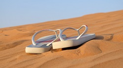 Flip Flops in Sand. Avoid Injuries this Flip-Flop Season, Dr. Robert Weiss, Podiatry