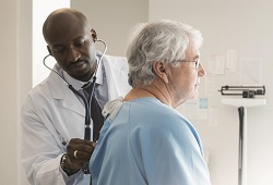 Primary Care physician and patient. Stamford Health Healthflash blog