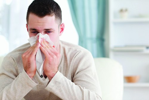 Man with flu