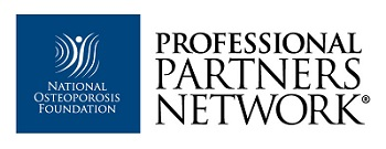 National Osteoporosis Foundation Logo: Stamford Health is a member of the National Osteoporosis Foundation's Professional Partners Network®