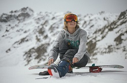 Female snowboarder: stay active and safe this winter