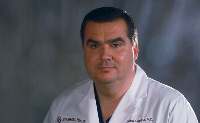 screen still of Dr. Gajdos